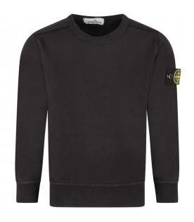 Black boy sweatshirt with iconic patch
