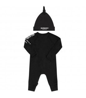 Black set with white logo for baby
