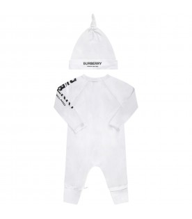 White set with black logo for baby