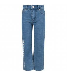 Denim jeans with logo for kids