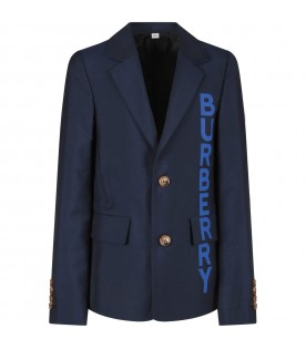 Blue jacket with logo for boy