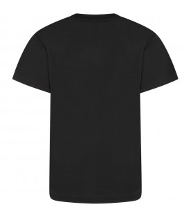 Black t-shirt with white cross for kids