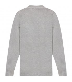 Grey sweatshirt with cross for kids