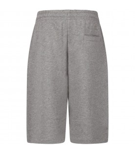 Grey shorts with cross for kids