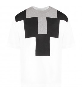White t-shirt with cross for kids