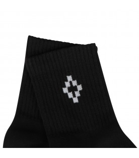 Black socks with white cross for kids