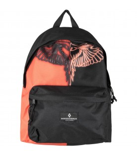 Bicolor backpack with wings for kids
