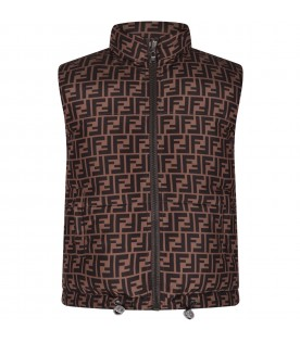 Black and brown kids vest with double FF