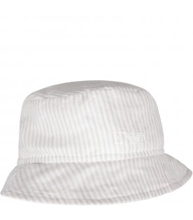 White and beige babyboy hat