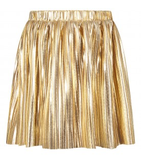 Gold girl skirt