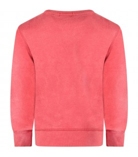Red sweatshirt for boy with white logo
