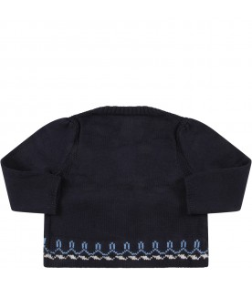 Blue cardigan for baby girl