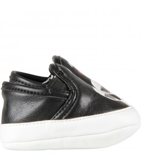 Black and white babykids loafers with Karl