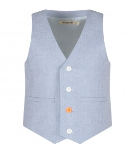 Light blue boy vest