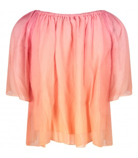 Pink girl blouse