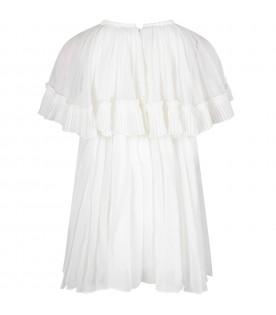 White girl dress with pleated