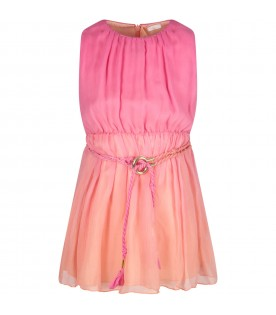 Pink and fuchsia dress for girl