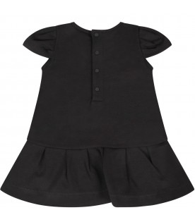 Black dress with logo for baby