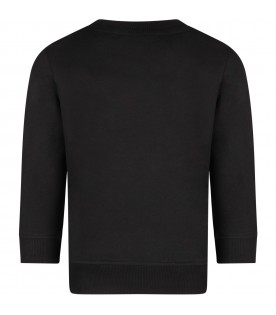 Black sweatshirt with white logo for kids