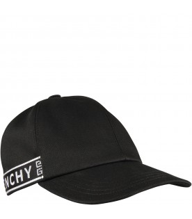 Black hat with logo for kids