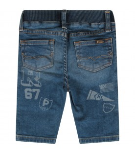 Denim babyboy jeans with logo