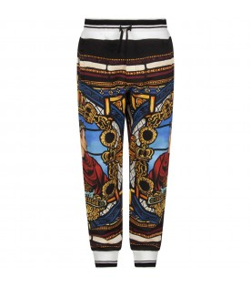Multicolor boy sweatpants with emperor
