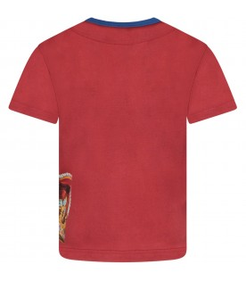Red boy T-shirt with logo