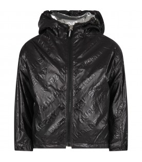 Black jacket for kid with logo
