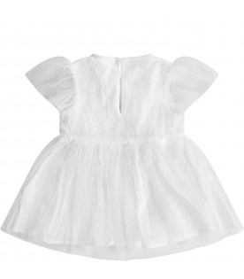 White babygirl dress with mermaids