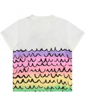 Ivory babygirl T-shirt with colorful shells