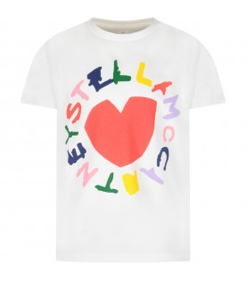 Ivory girl T-shirt with colorful logo