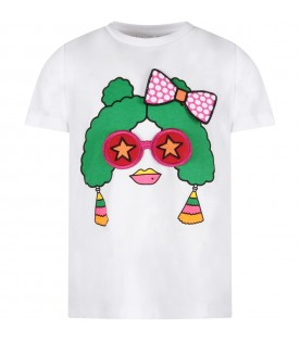 White girl T-shirt with funny face