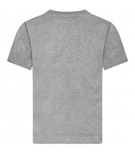 Grey boy T-shirt with iconic patch