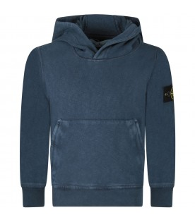 Blue sweatshirt for boy with iconic patch