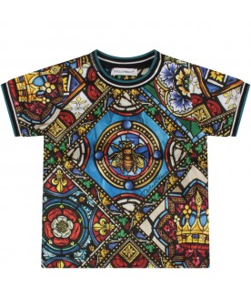 Multicolor babyboy T-shirt with colorful print