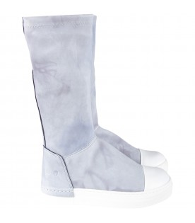 Light blue girl boots