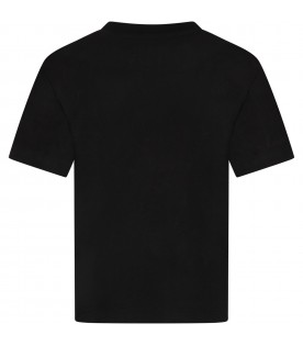 Black kids T-shirt with colorful Teddy Bear
