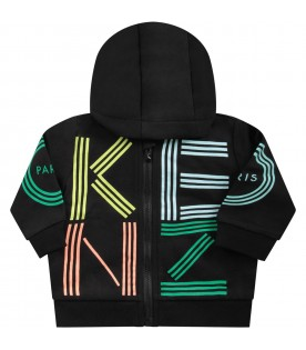 Black babykids sweatshirt with colorful logo