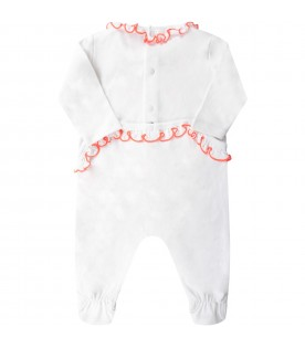 White babygirl babygrow with pink tiger