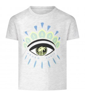 Grey boy T-shirt with iconic eye