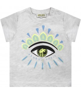 Grey babyboy T-shirt with iconic eye