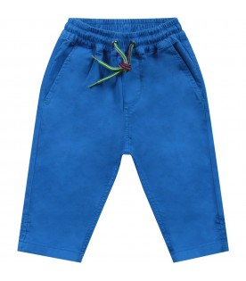 Azure babyboy pants with iconic patch