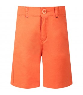 Short arancione per bambino con iconic patch
