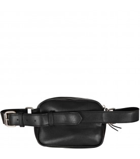 Black girl bum bag with logo