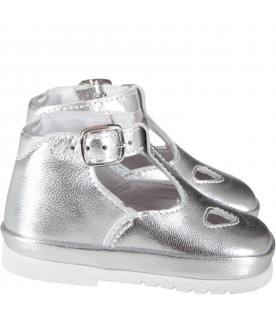 Silver babygirl ox-eye shoes