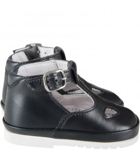 Blue babykids ox-eye shoes