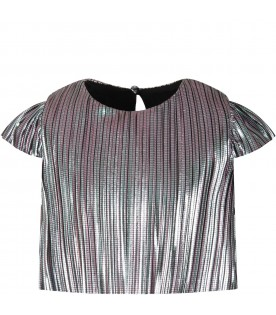 Silver girl bluse