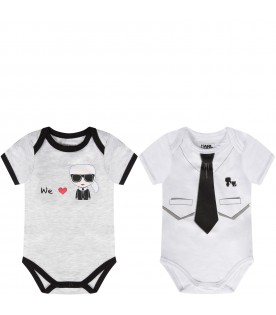 Grey and white babyboy suit