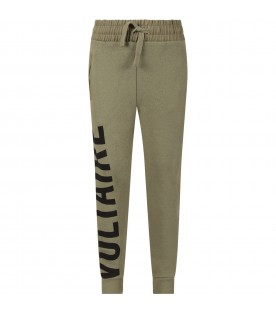 Military green  boy sweatpant with logo