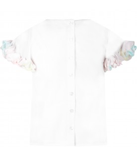 White girl blouse with flowers